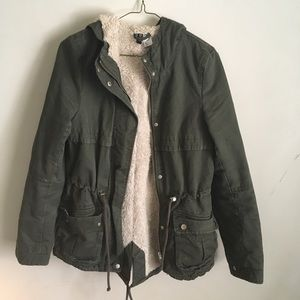 🔻Price Drop🔻 H&M Divided | Army Lined Jacket